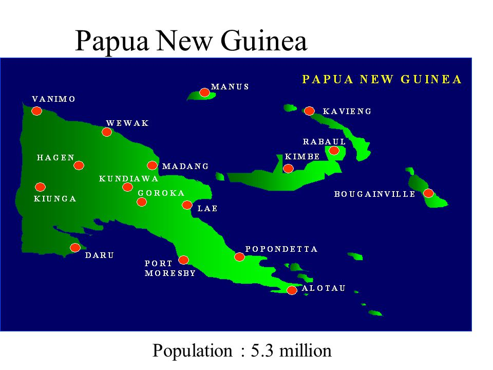Papua New Guinea Population : 5.3 million
