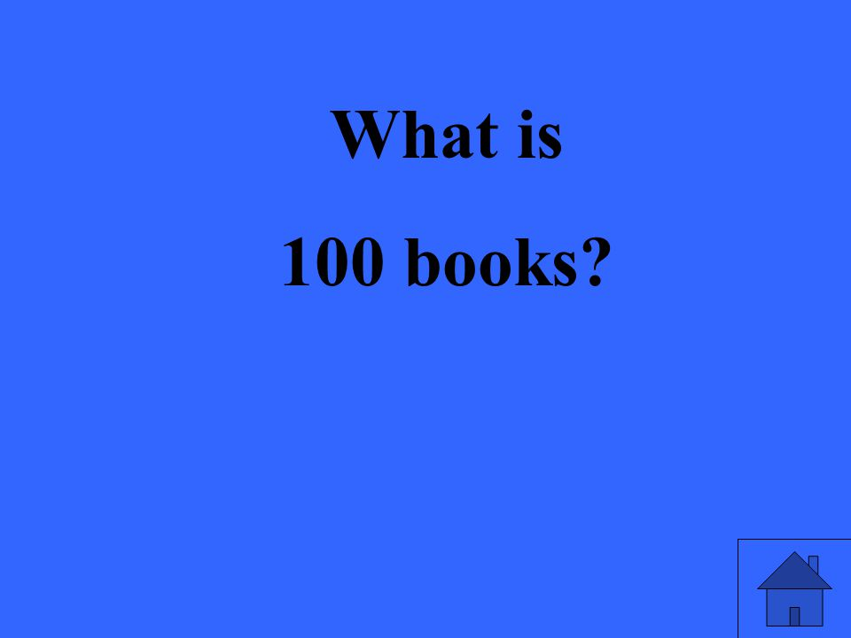 What is 100 books