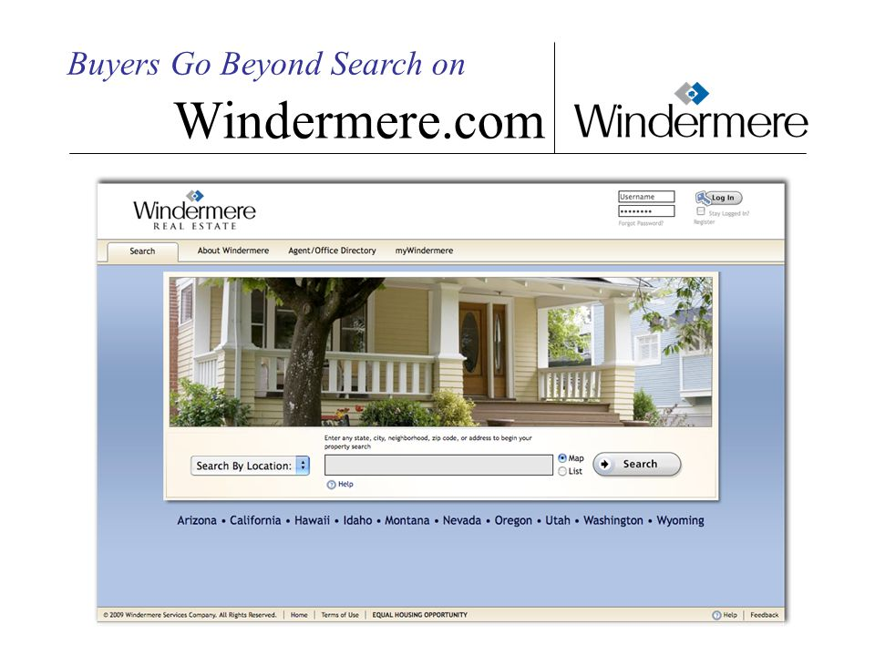 Buyers Go Beyond Search on Windermere.com