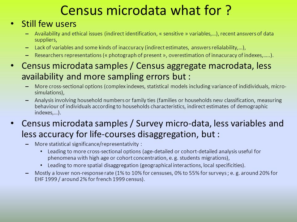 Census microdata what for .