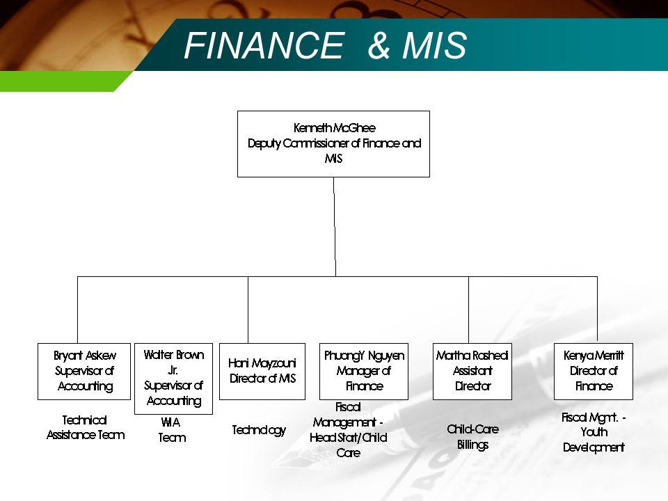 FINANCE & MIS