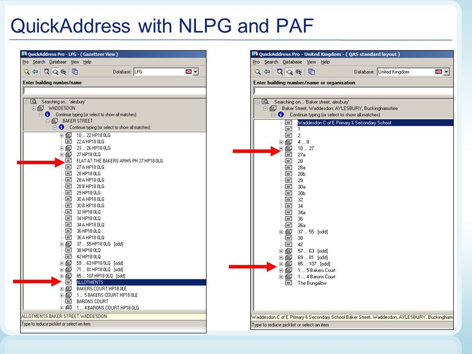 QuickAddress with NLPG and PAF