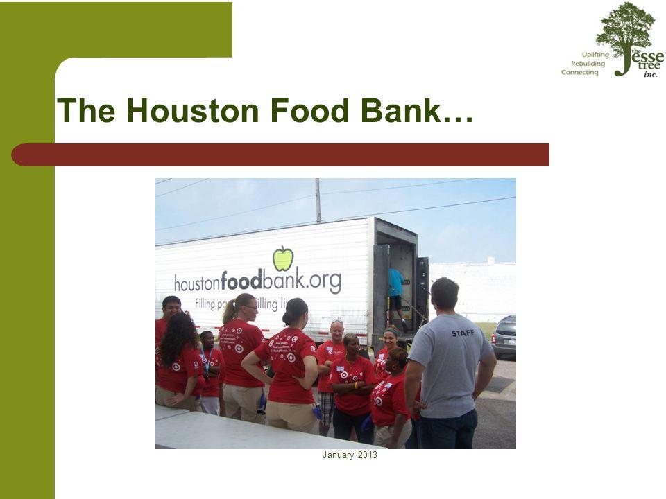 The Houston Food Bank…