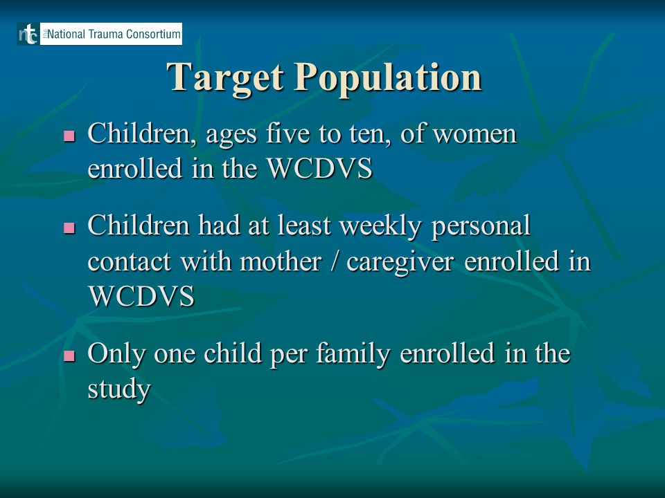 Lessons Learned Children can be the motivator for women to seek treatment.