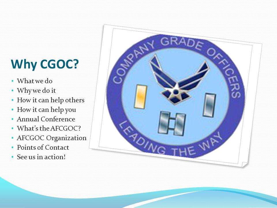 Why CGOC.