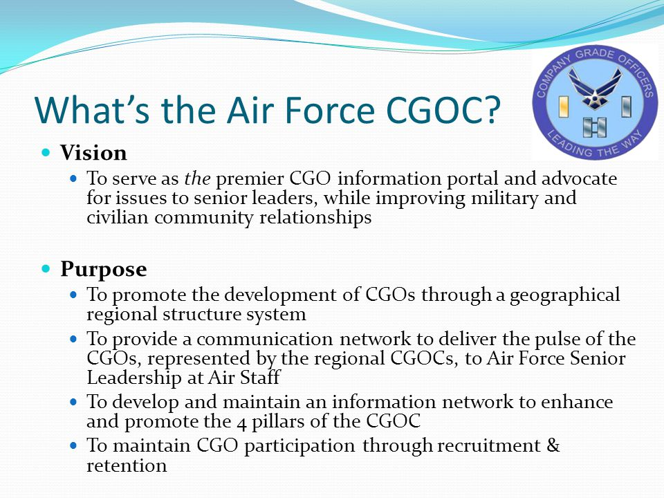What's the Air Force CGOC.