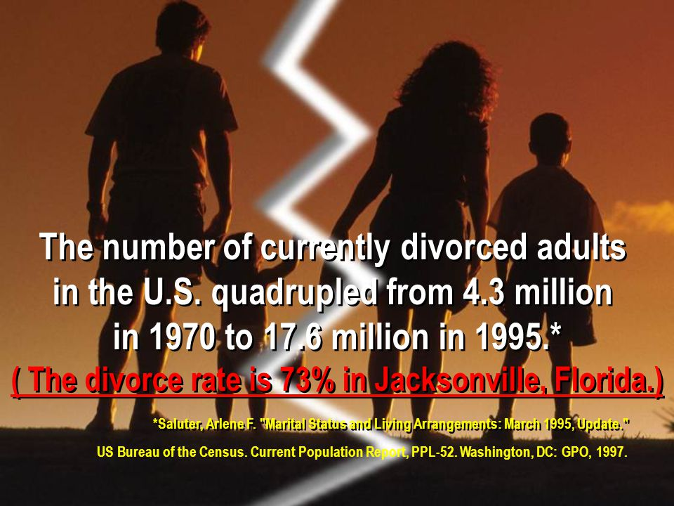 The number of currently divorced adults in the U.S.