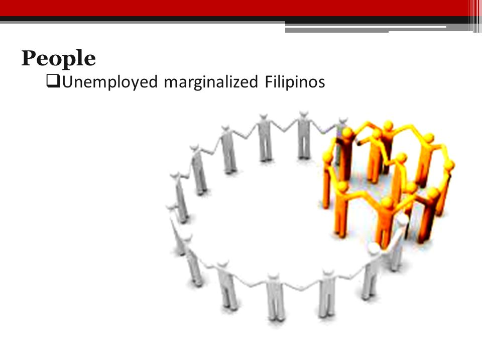 People  Unemployed marginalized Filipinos