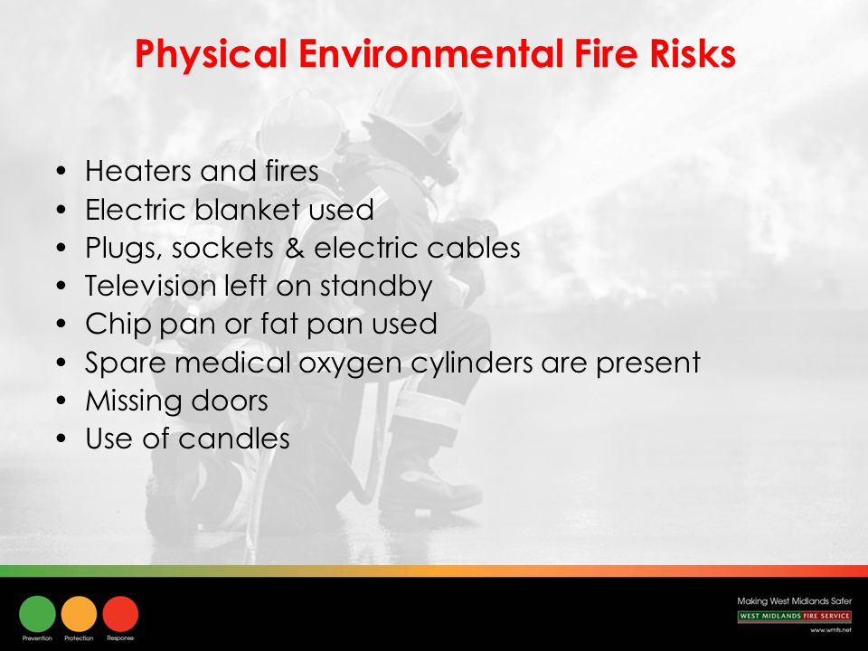 Facts & Figures The cost of a fire death is estimated at £1.65m The average cost of a serious injury from fire is £185,000 Since 1997 accidental fire deaths have decreased by 49% (UK) Recent fire deaths (75%) have had a history of mental ill health (WMFS) Number of accidental fires in the home have decreased by 27% since 1997 (UK)