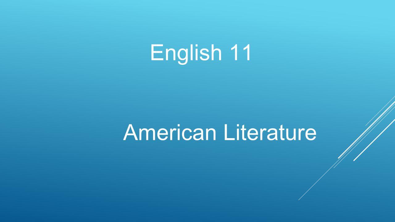 English 11 American Literature