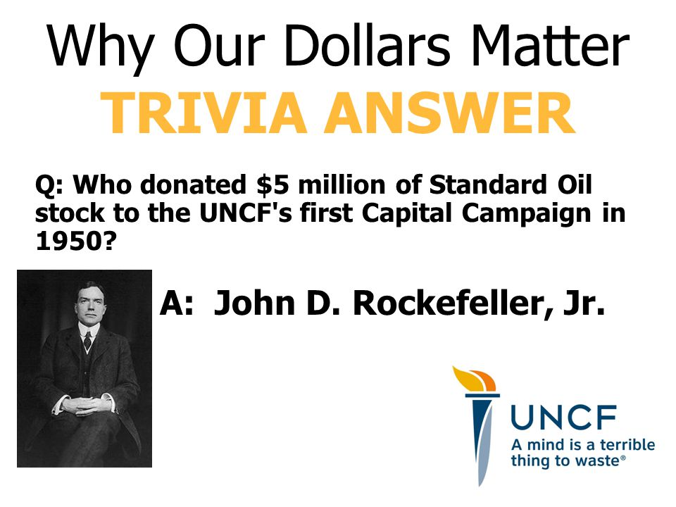 A: John D. Rockefeller, Jr.
