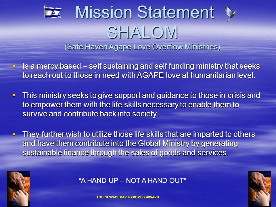 SHALOM Was seeded from a tragic death  On the 3 rd of August 1999 a 17 year old boy died of an overdose of amphetamines and heroin on the streets of Tasmania Australia.