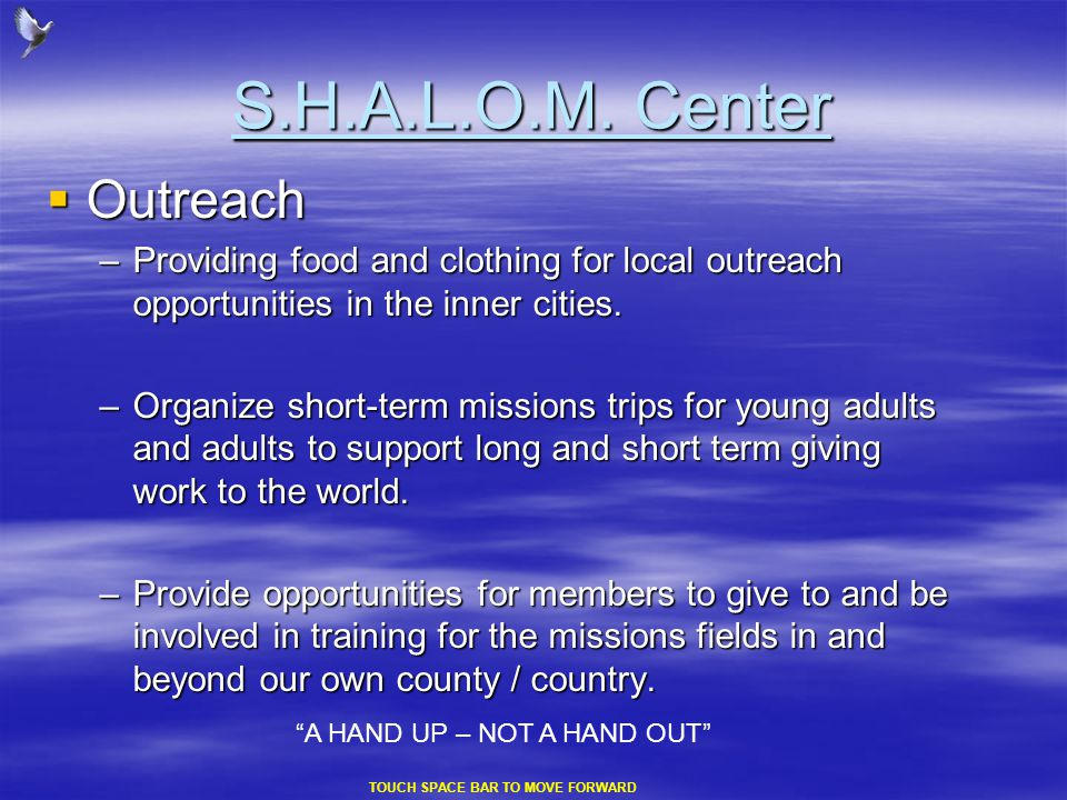 S.H.A.L.O.M. Center  Health & Guidance Center will offer to the needy....