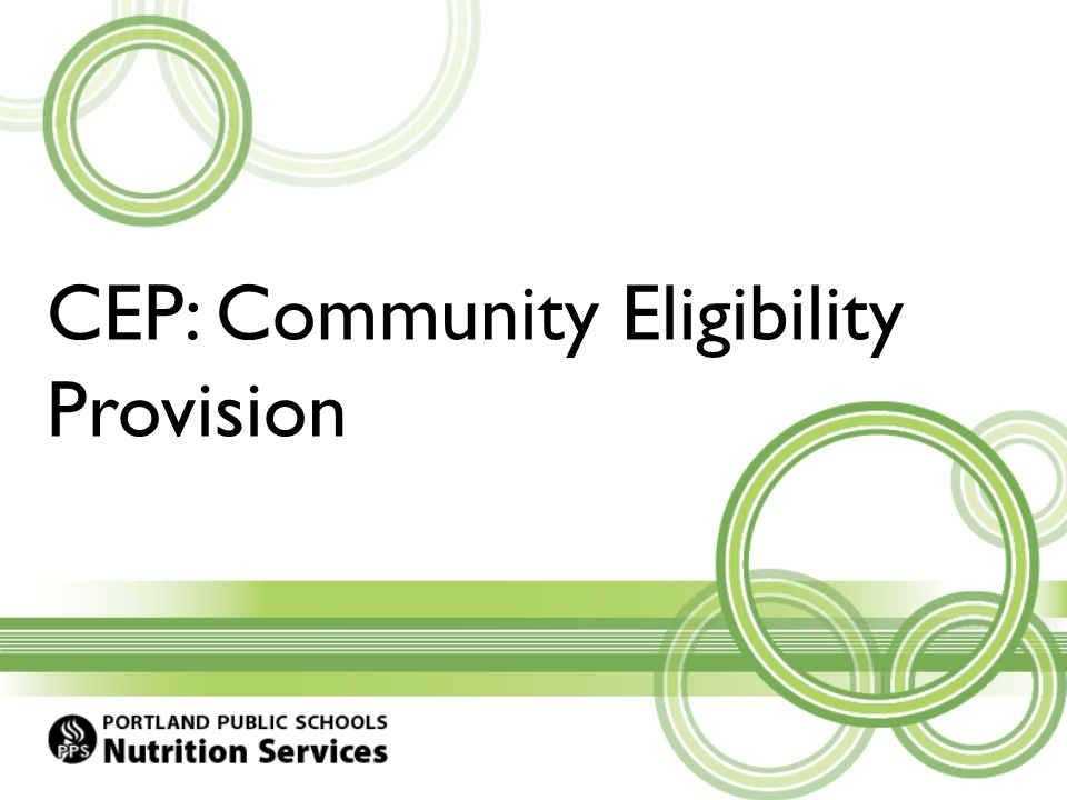 CEP: Community Eligibility Provision