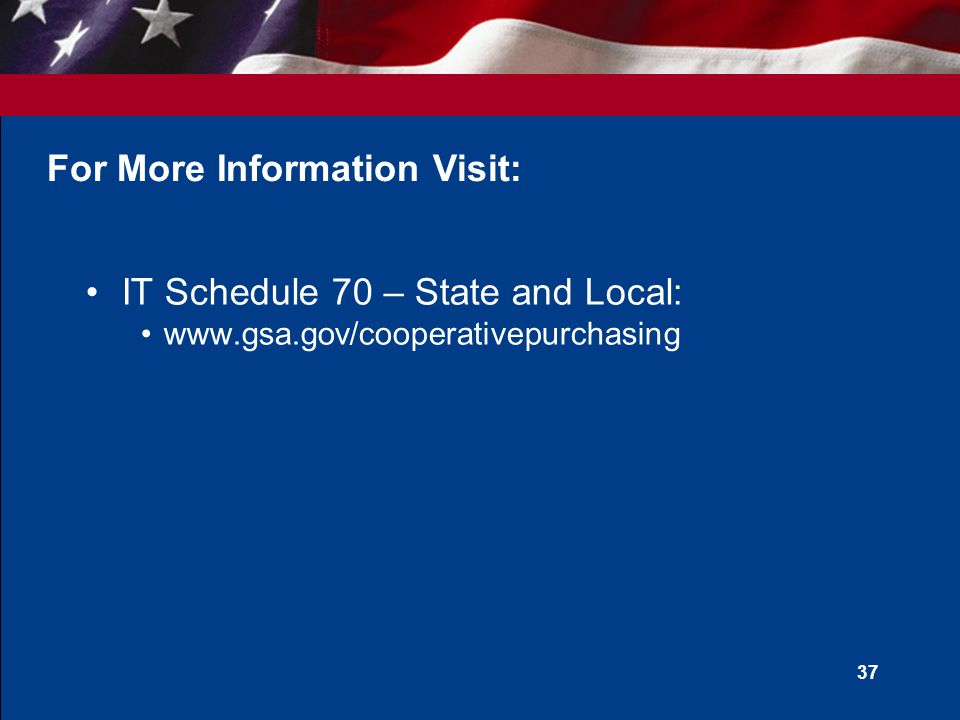 36 State and Local Preference Programs State and Local preference programs are not waived or otherwise affected by Cooperative Purchasing