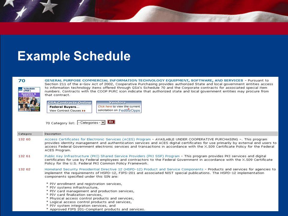 4 Example Schedule