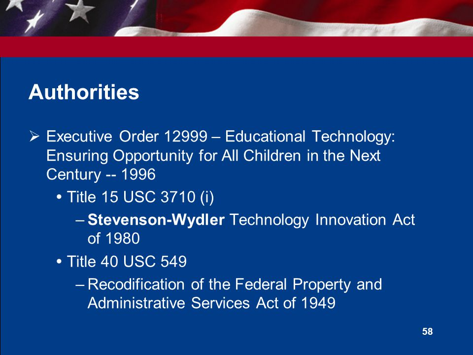 U.S. General Services Administration Computers for Learning: An Overview Roman J.