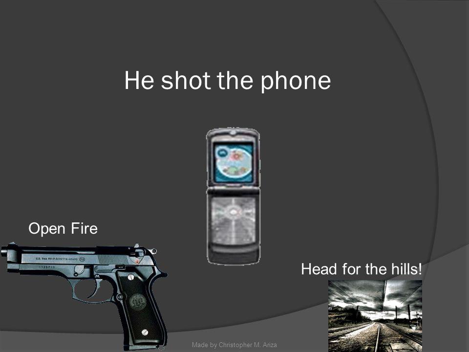 Made by Christopher M. Ariza Shoot at him! Run! Call 9-1-1
