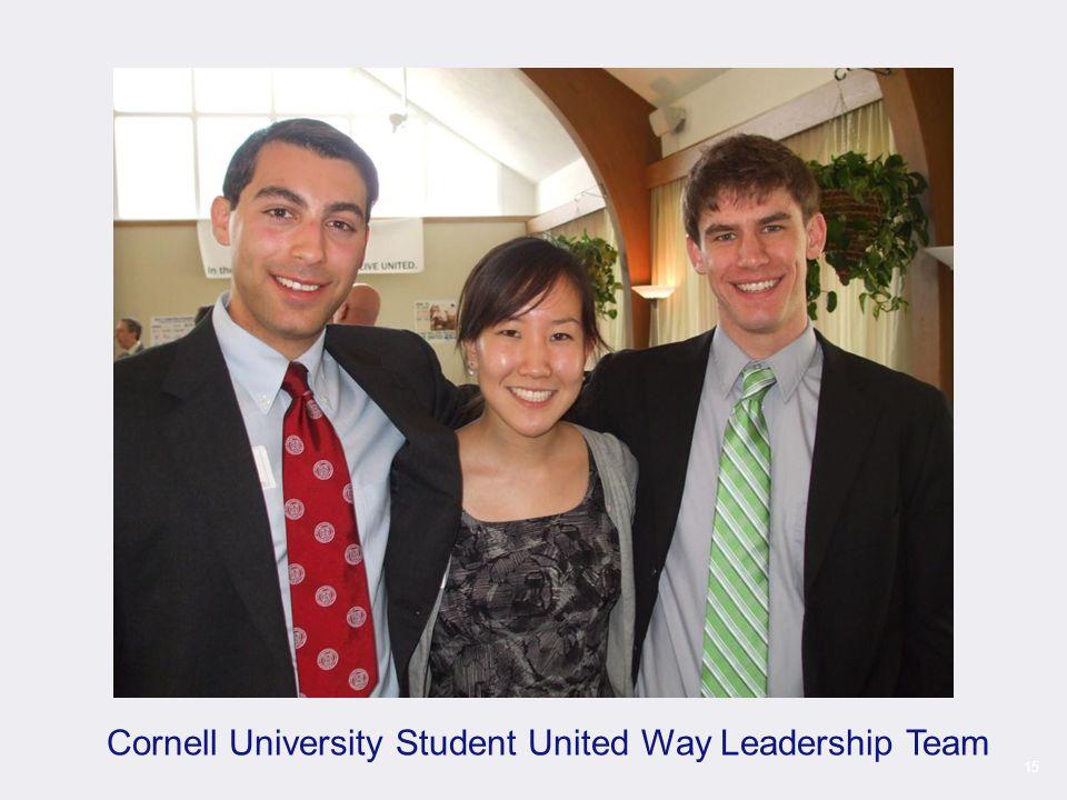 15 Cornell University Student United Way Leadership Team
