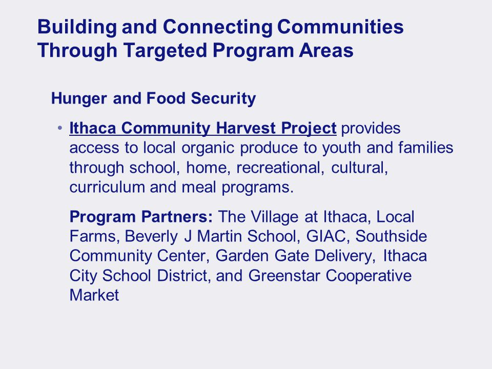 7 50 Served – After School Meal Program at Greater Ithaca Activities Center (GIAC)