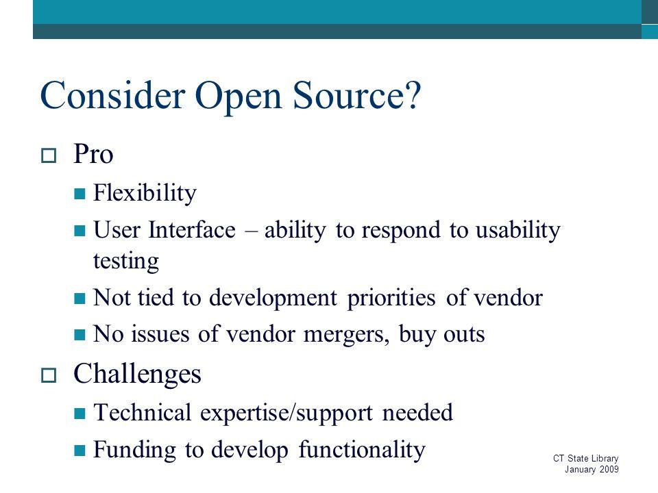 Consider Open Source.