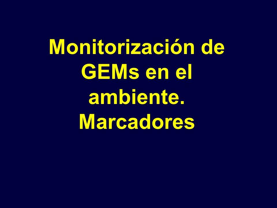 Monitorización de GEMs en el ambiente. Marcadores