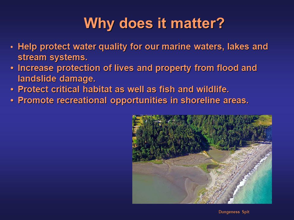 Help protect water quality for our marine waters, lakes and stream systems.