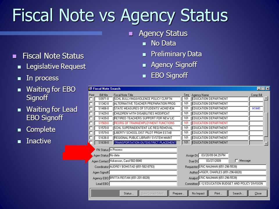 Copying Data Between Notes Available from Prepare screen Available from Prepare screen Double click for lists Double click for lists Choose All, Narrative, or just the Fiscal Impact Indicators Choose All, Narrative, or just the Fiscal Impact Indicators Always be in the fiscal note you want to copy TO