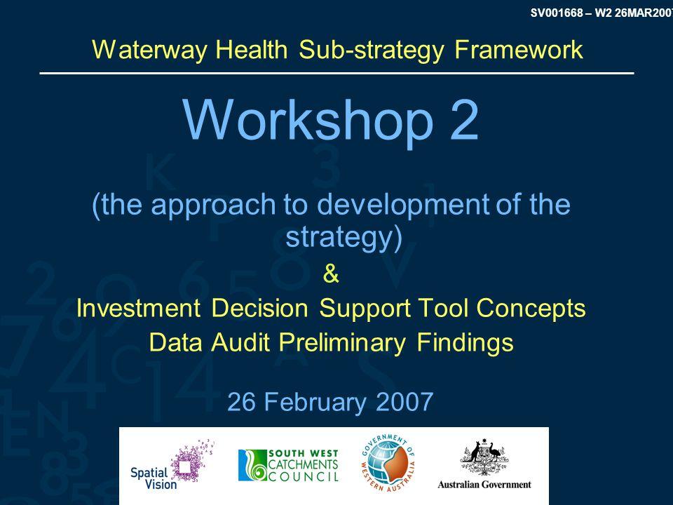 SV001668 – W2 26MAR2007 Workshop Review