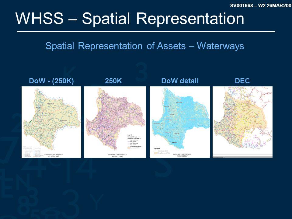 SV001668 – W2 26MAR2007 WHSS – Spatial Representation Spatial Representation of Assets – Waterways DoW - (250K)250KDoW detailDEC