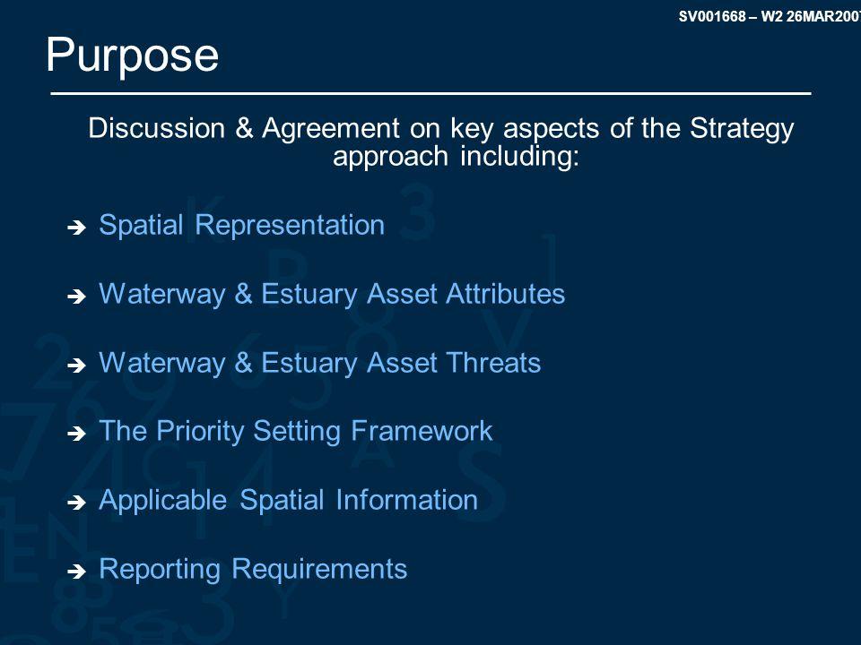 SV001668 – W2 26MAR2007 WHSS – Spatial Representation Spatial Representation of Assets – Estuaries Estuaries