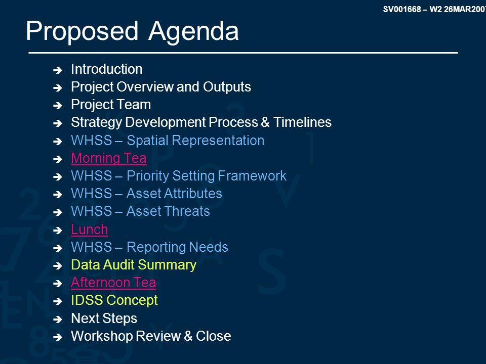 SV001668 – W2 26MAR2007 Data Audit Summary Spatial Representation of Assets Threats