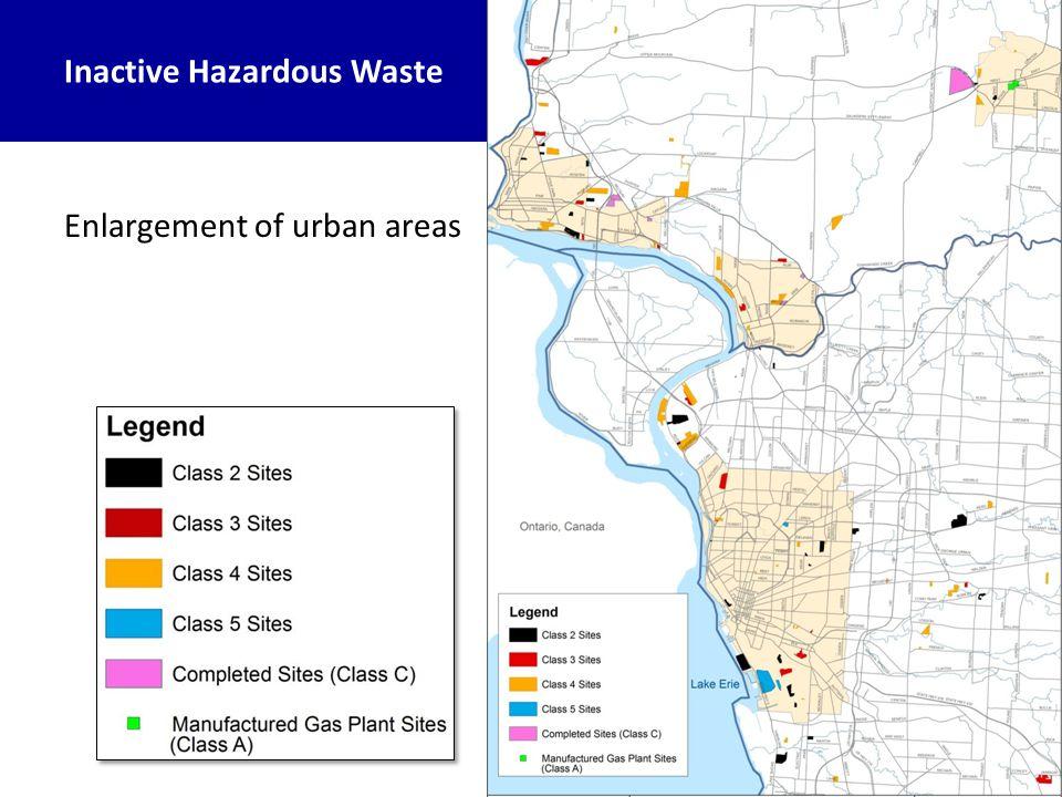 Inactive Hazardous Waste Enlargement of urban areas