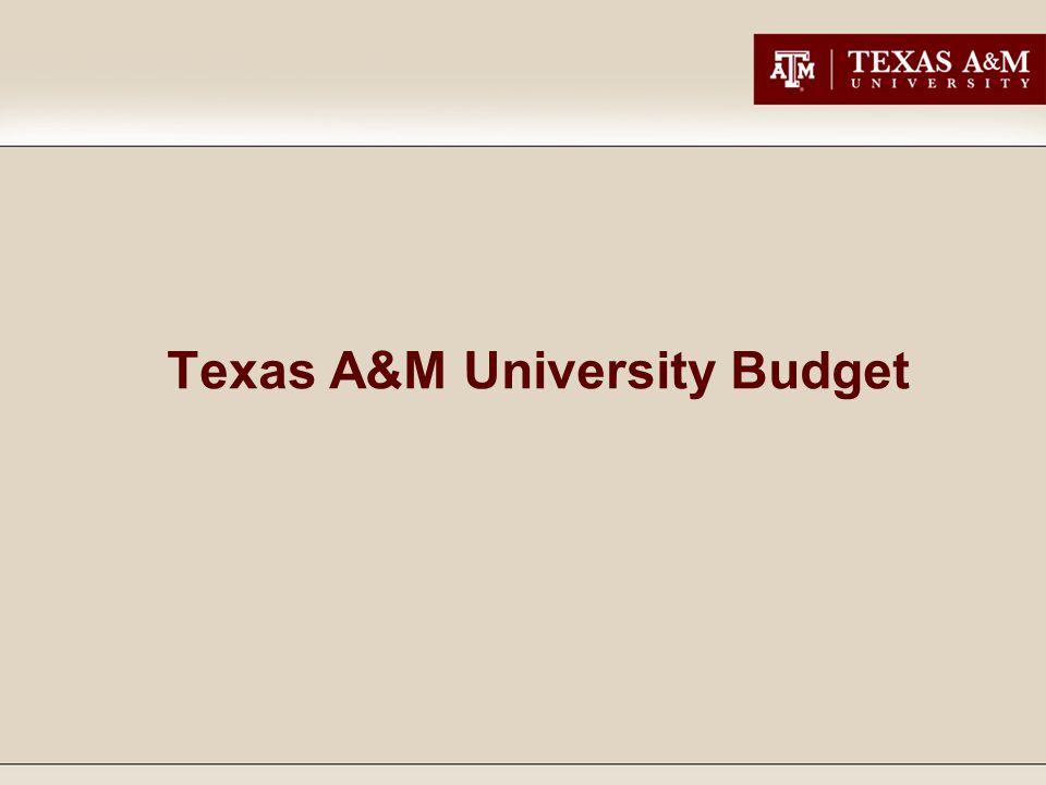 Texas A&M University Budget