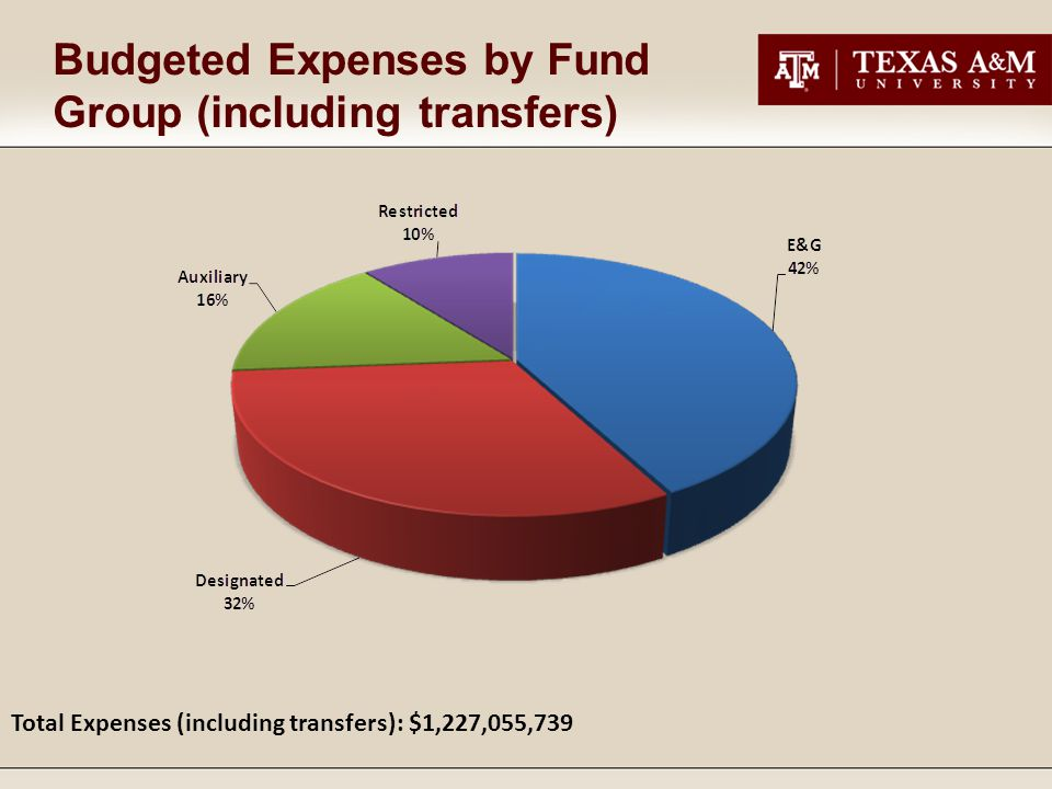 Budgeted Expenses by Fund Group (including transfers) Total Expenses (including transfers): $1,227,055,739