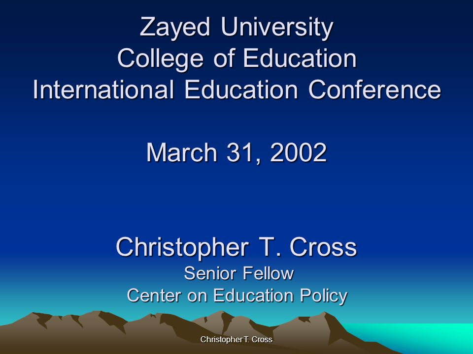 Christopher T.Cross Essential Issues How did the standards movement evolve.