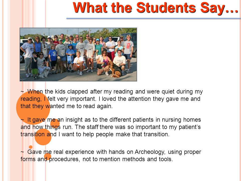 What the Students Say… ~ When the kids clapped after my reading and were quiet during my reading, I felt very important. I loved the attention they ga