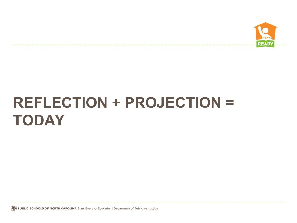 REFLECTION + PROJECTION = TODAY