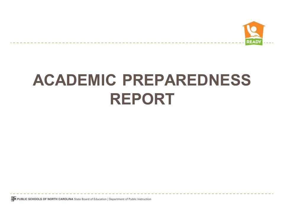 ACADEMIC PREPAREDNESS REPORT
