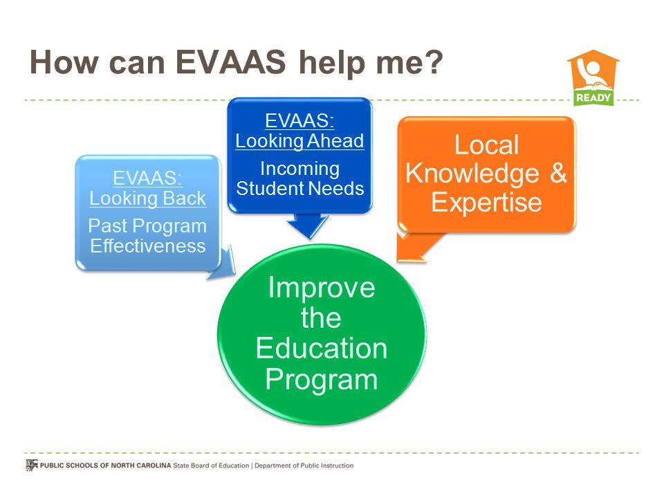 How can EVAAS help me.