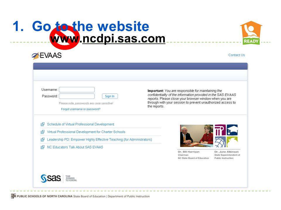 1. Go to the website www.ncdpi.sas.com