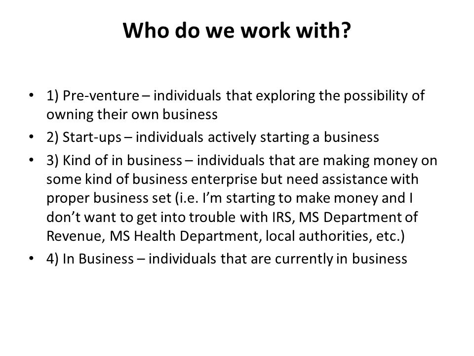 Who do we work with.