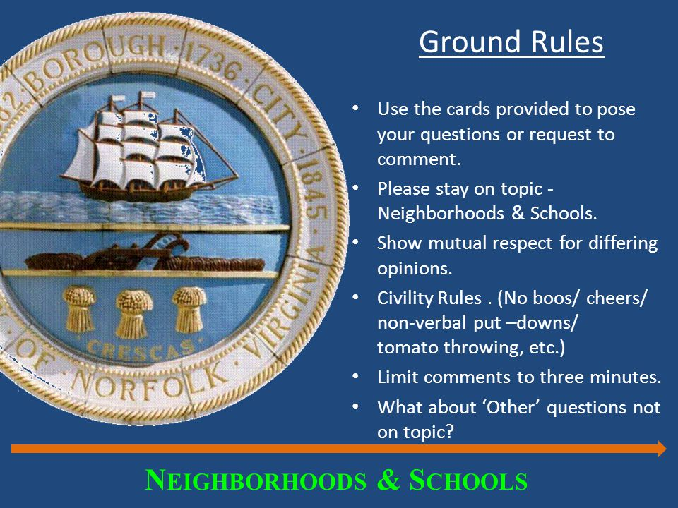 Ground Rules Use the cards provided to pose your questions or request to comment.