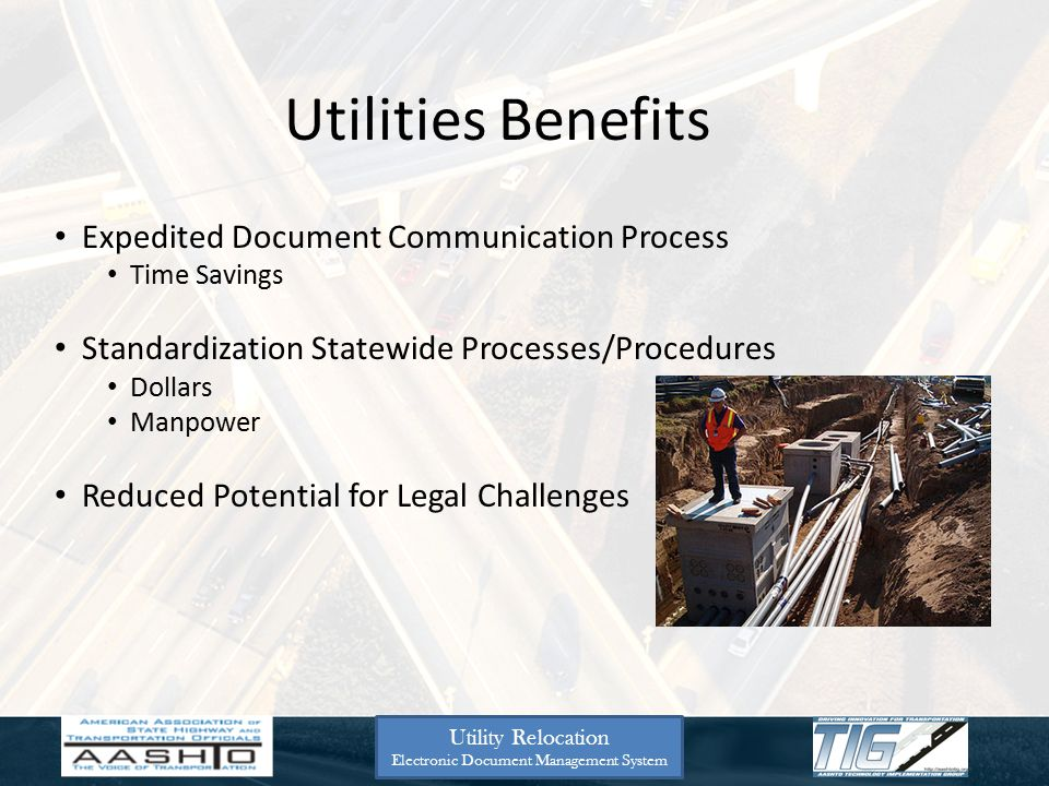 GADOT Next 3 Slides Utility Relocation Electronic Document Management System