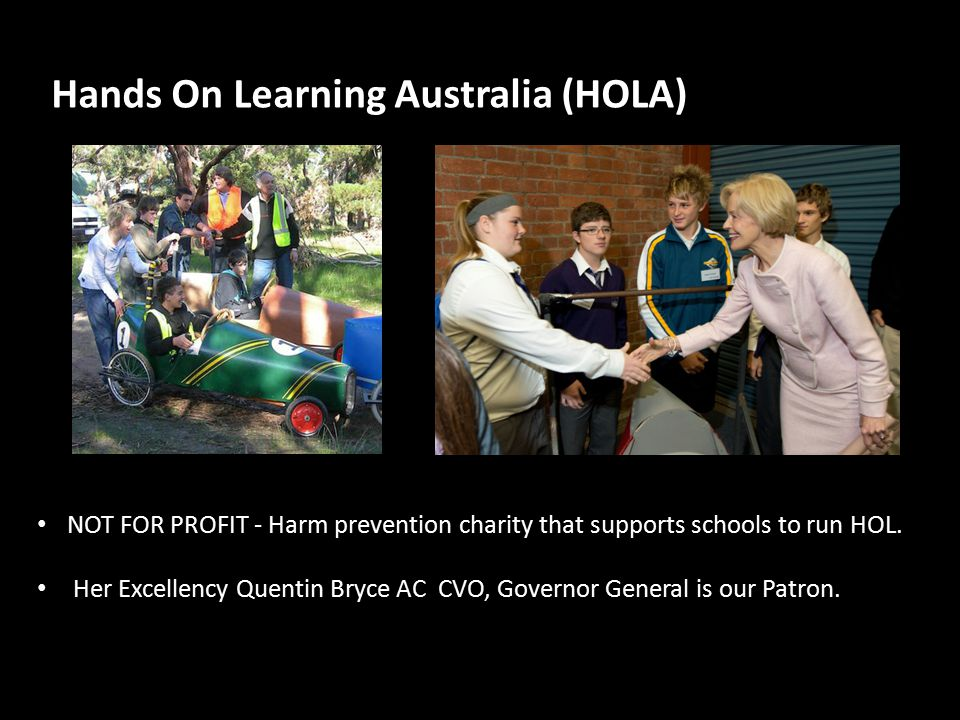 Hands On Learning Australia (HOLA) NOT FOR PROFIT - Harm prevention charity that supports schools to run HOL.