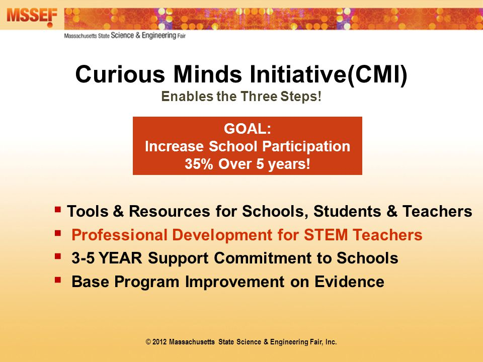 Curious Minds Initiative(CMI) Enables the Three Steps.