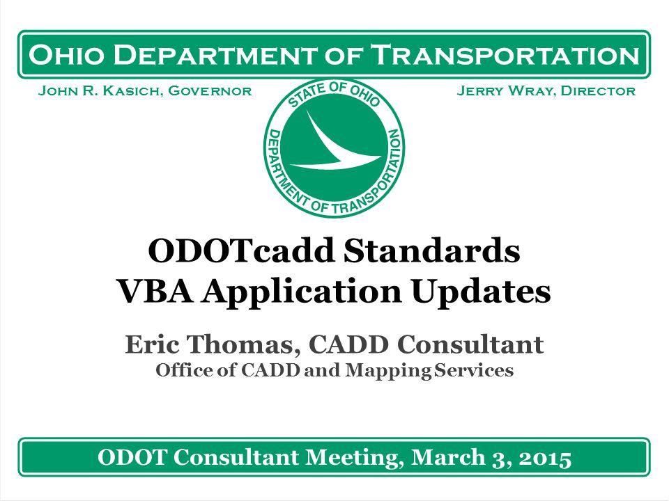 Ohio Department of Transportation John R.