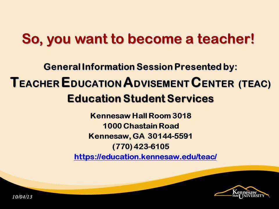 A Leading Producer of Teachers in Georgia.KSU produces outstanding teachers.