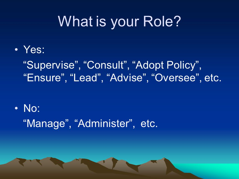 What is Your Role.