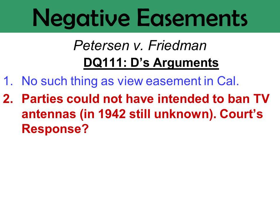 Negative Easements Petersen v.